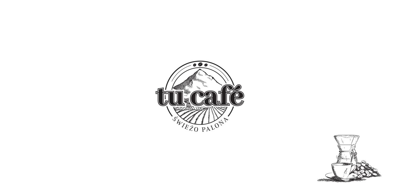 Kreyatif Logo Palarnia kawy TU CAFÉ