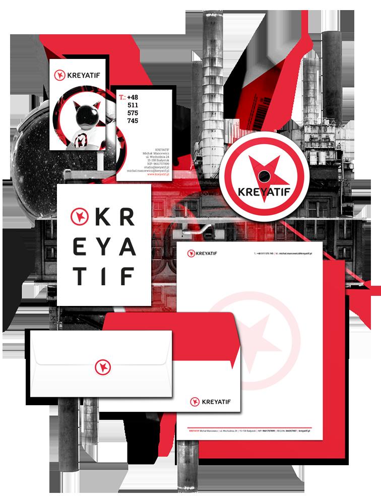 KREYATIF Studio grafiki ireklamy - logo, identyfikacja wizualna