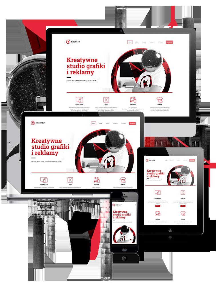KREYATIF Studio grafiki ireklamy - responsywne strony WWW